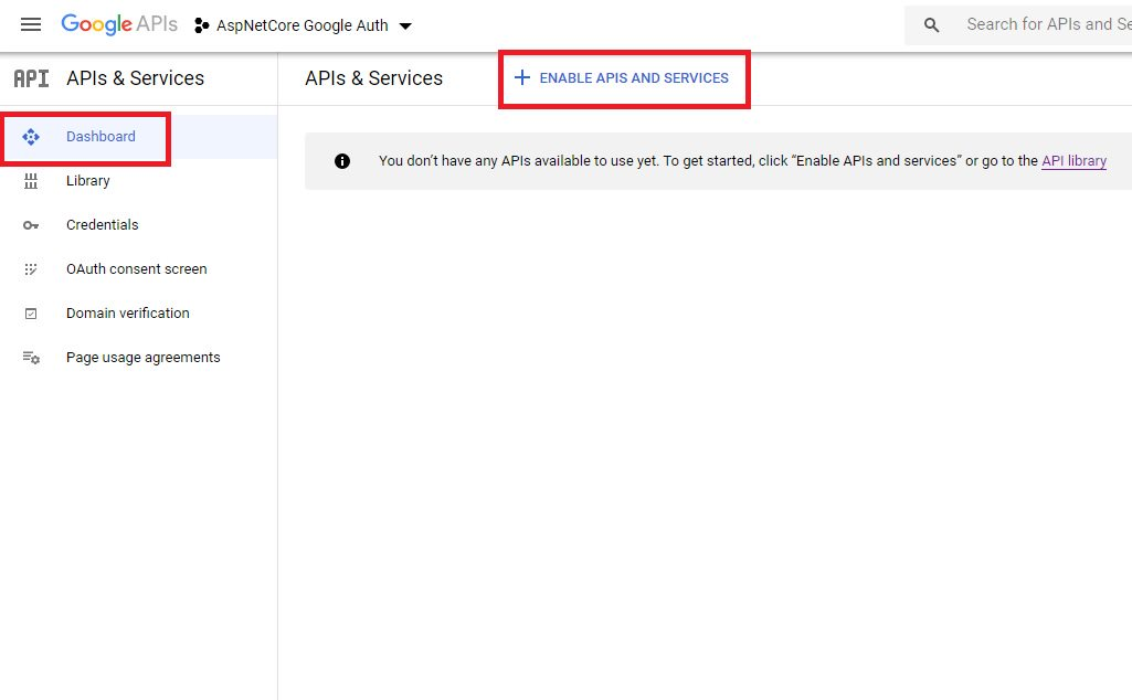 Google authentication - create client id and secret Step 11